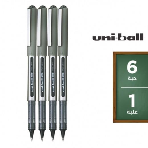 يوني بول آي – قلم حبر سائل – أسود (6 حبة) عرض التوفير