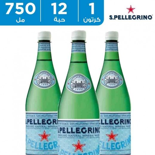 سان بيليغرينو – مياه معدنية طبيعية فوارة عبوة زجاج 12 × 750  مل