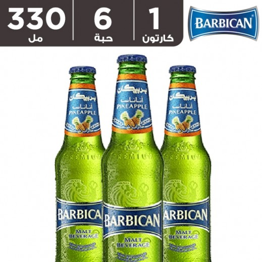 بربيكان - مشروب شعير بنكهة الأناناس 330 مل ( 6 حبة )