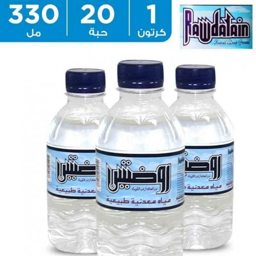 روضتين - مياه معدنية طبيعية - 20 × 330 مل
