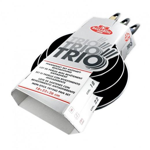 تريو بالاريني - طقم مقلاة 3 قطع