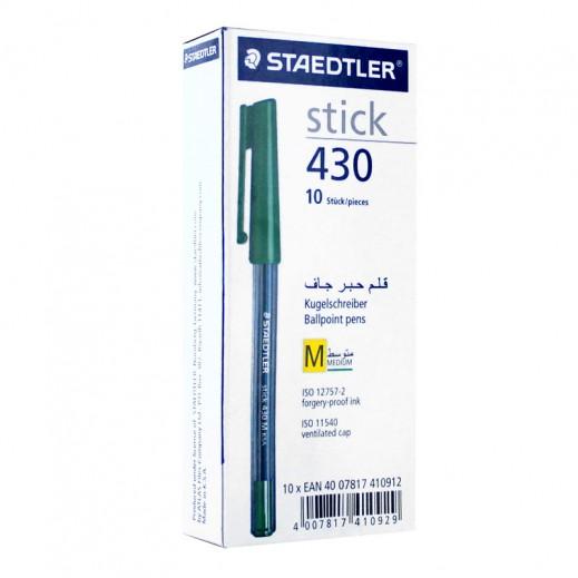 ستديلر – أقلام حبر جاف 10 حبة - أخضر
