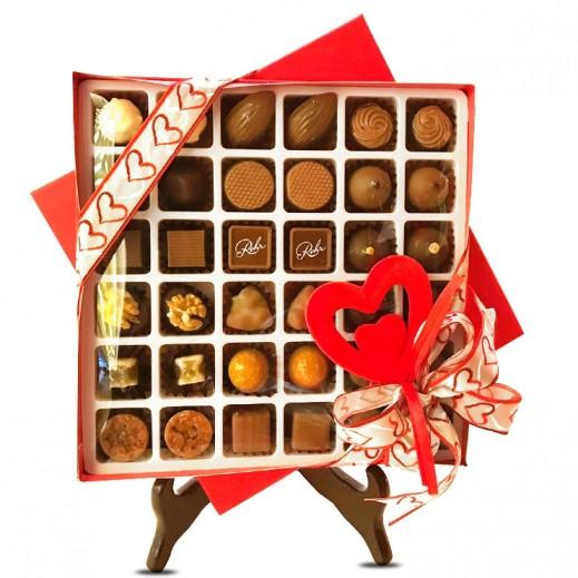 شوكولاتة رور- علبة شوكولاتة مميزة - أبيض 36 حبة  - يتم التوصيل بواسطة Chocolates Rohr Geneve