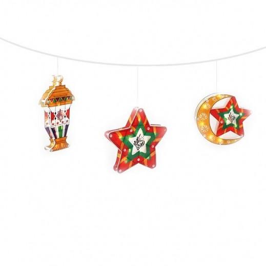 ديكورات رمضانية بضوء LED بتصميمات مختلفة