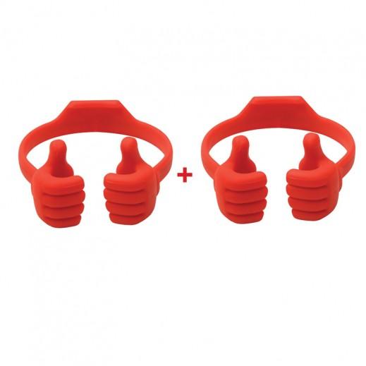 اشتر واحد واحصل على الثاني مجانا قاعدة صغيرة على شكل ابهامين للجوال احمر