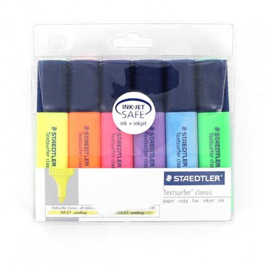 ستدلر تكست سيرفر – أقلام الإظهار – 6 ألوان متنوعة  (6 عبوات) – منتجات الجملة