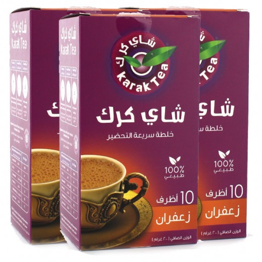 كرك - شاي بنكهة الزعفران سريع التحضير 10 أكياس × 20 جم (3 حبة) - أسعار الجملة