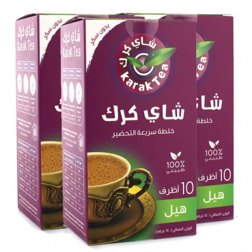 كرك - شاي بنكهة الهيل سريع التحضير (غير مُحلى) 10 أكياس × 14 جم (3 حبة) - أسعار الجملة