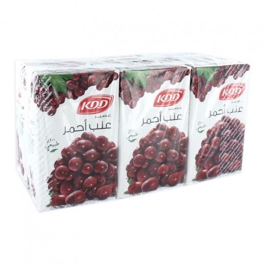كى دى دى - عصير العنب الأحمر 250 مل ( 6 حبة )