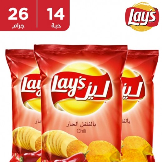 Lays Potato Chips Chilli Flavour 14x26 g