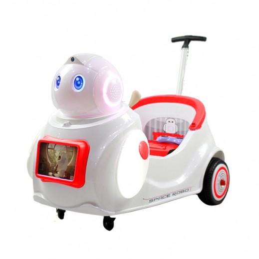 """سيارة سباقات للأطفال """"على شكل روبوت"""" (أحمر) - يتم التوصيل بواسطة كليك تويز خلال 2 أيام عمل"""