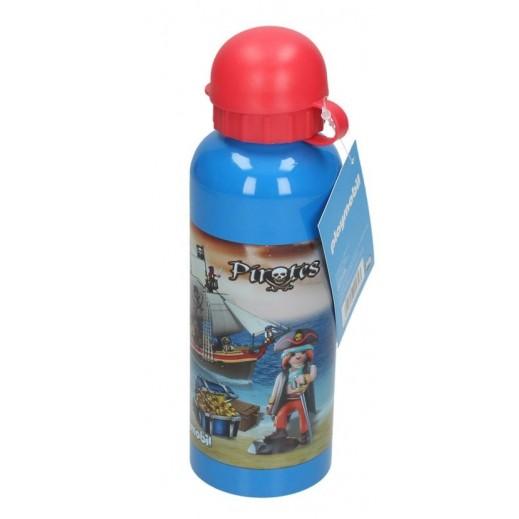 بلايموبيل - زجاجة مياه الومينيوم بتصميم قراصنة - أحمر