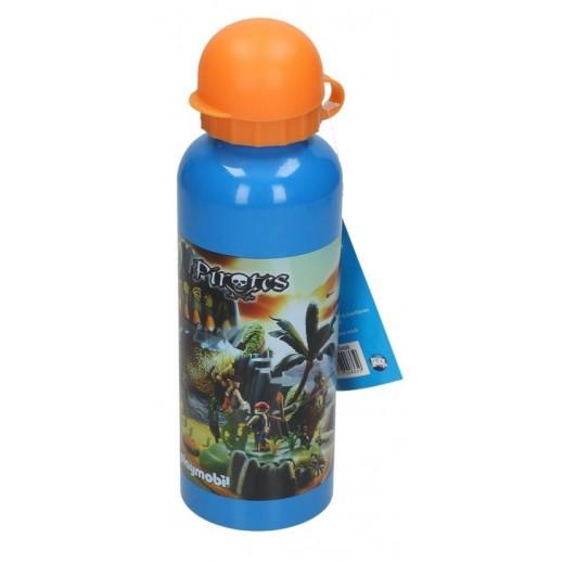 بلايموبيل - زجاجة مياه الومينيوم بتصميم قراصنة برتقالي
