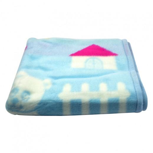 بطانية ناعمة  للأطفال 80 × 110 سم - أزرق