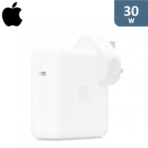 ابل - محول طاقة USB - C بقوة 30 واط - ابيض