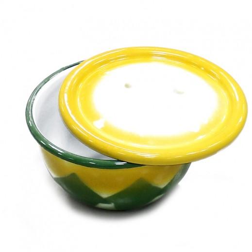 جي كي سي – وعاء طعام وسط مع غطاء (ألوان متعددة)