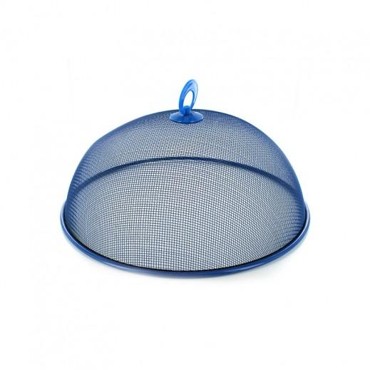 غطاء معدني شبكي لحفظ الأطعمة من الحشرات 40 سم – أزرق