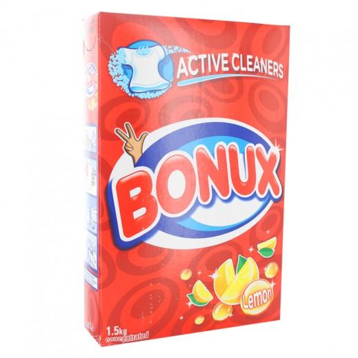 """بونكس – مسحوق الغسيل للغسالات العادية """" ليمون """" 1.5 كجم"""