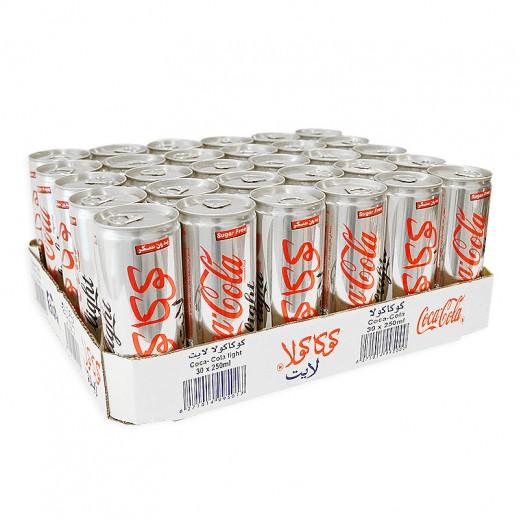 كوكا كولا لايت – مشروب غازي 250 مل ( 30 حبة )