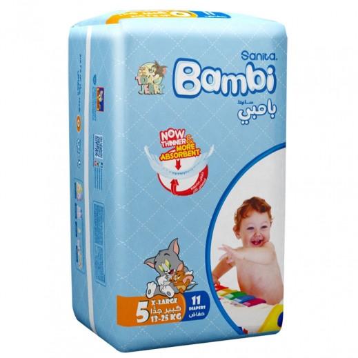 سانيتا – بامبي حفاضات أطفال مقاس (5) حجم كبير (13-25 كجم) 11 حبة