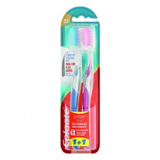 كولجيت – فرشاة أسنان بشعيرات نحيفة 1 + 1 مجاناً