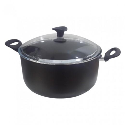 بايركس – وعاء طهي ألومنيوم أسود - 30 سم