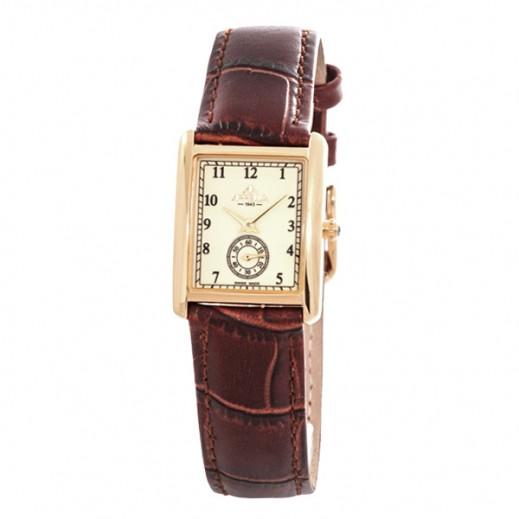أبيلا – ساعة يد سويسرية للسيدات بحزام جلدي وواجهة بيضاء (AP-4360.01.0.1.01)