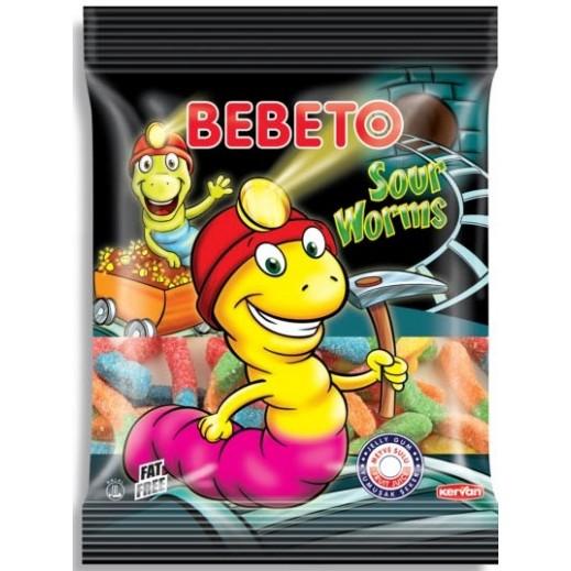 بيبيتو - حلوى جيلي على شكل الديدان بنكهة حامضة 100 جم
