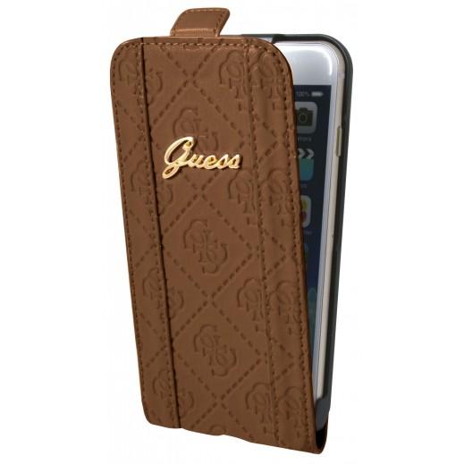غطاء GUESS FLAP لأيفون 6 بلاس -  بني