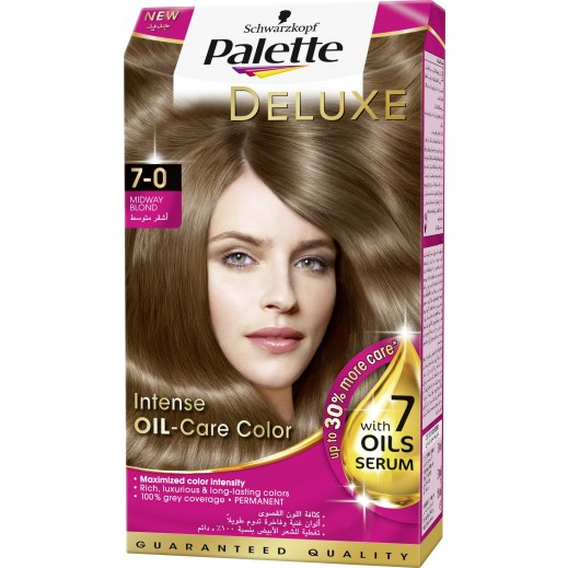 باليت – صبغة شعر باليت ديلوكس المركزة بعناية الزيت - درجة اللون 7-0 ميدواي بلوند 50 مل