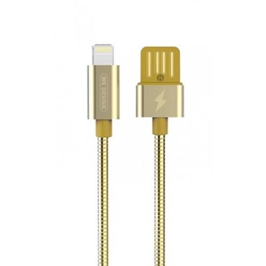 دبليو كي ديزاين – كيبل Lightning لأجهزة ابل بطول 1 متر – ذهبي