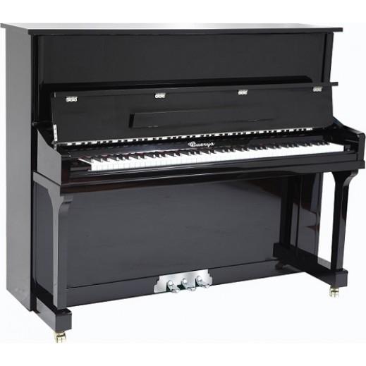 ويريا – بيانو خشبي مستقيم 88 مفتاح – أسود - يتم التوصيل بواسطة Marshall Al-Alamiah Company