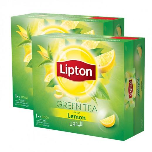ليبتون – شاي أخضر بالليمون 100 كيس (2 حبة) - أسعار الجملة