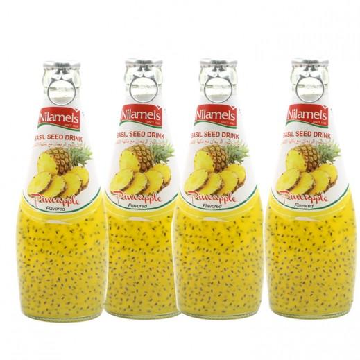 نيلاميلز -  شراب بذور الريحان مع نكهة الأناناس 290 مل (4 حبة) - عرض التوفير