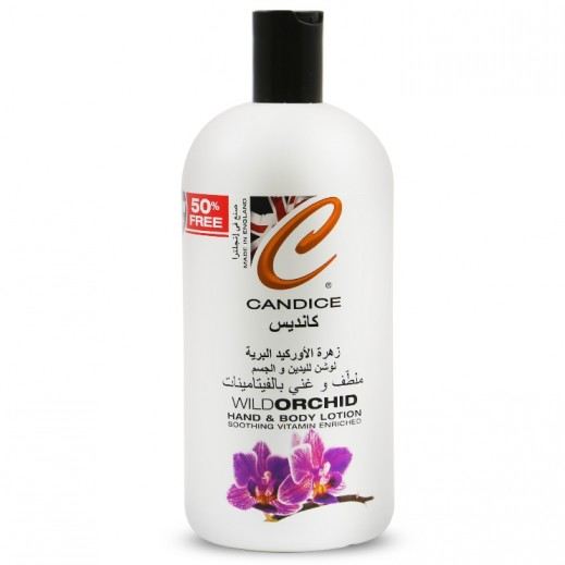 كانديس – لوشن لليدين والجسم برائحة زهرة الأوركيد 500 مل + 50% إضافية مجاناً