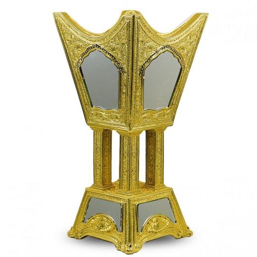 مبخرة فاخرة بلون ذهبي مقاس كبير جداً