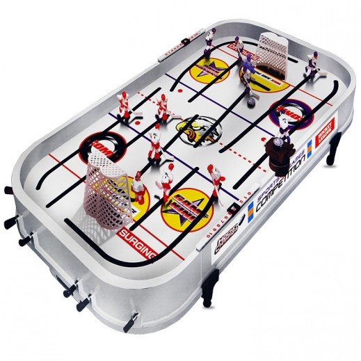 لعبة طاولة هوكي الجليد يدوياً
