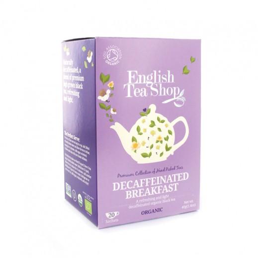 إنجلش تي شوب – شاي الفطور خالٍ من الكافيين 20 كيس (40 جم)