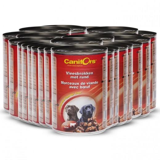 كانفورس – طعام الكلاب مع قطع اللحم البقري 8×410 جم