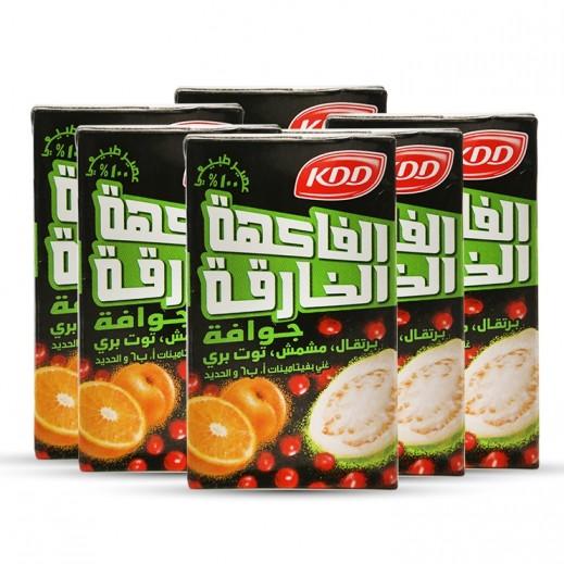 كي دي دي - عصير باور فروت (نكهة المشمش، البرتقال، جوافه، والكرز) 6×250 مل