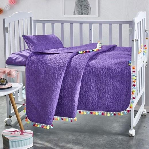 كانون - طقم غطاء سرير بنفسجي للأطفال 3 قطع 110×140 سم - يتم التوصيل بواسطة SFC
