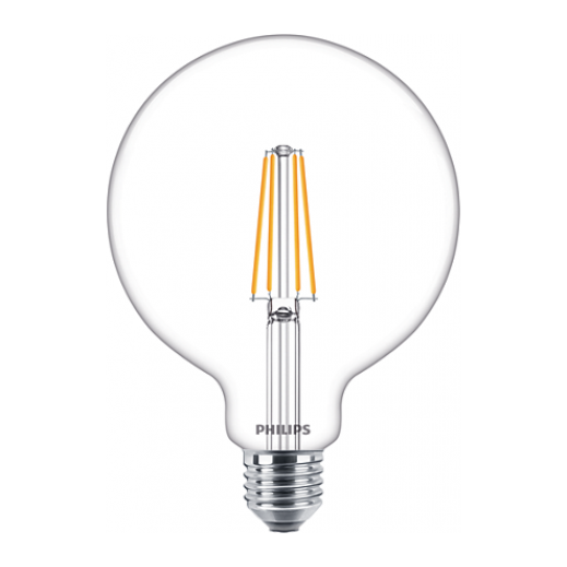 فيليبس -  لمبة LED كلاسيك بقوة 6-60 واط - أبيض دافئ
