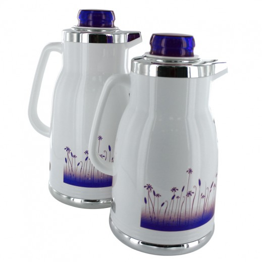 Regal Flask 2 Pieces Set White