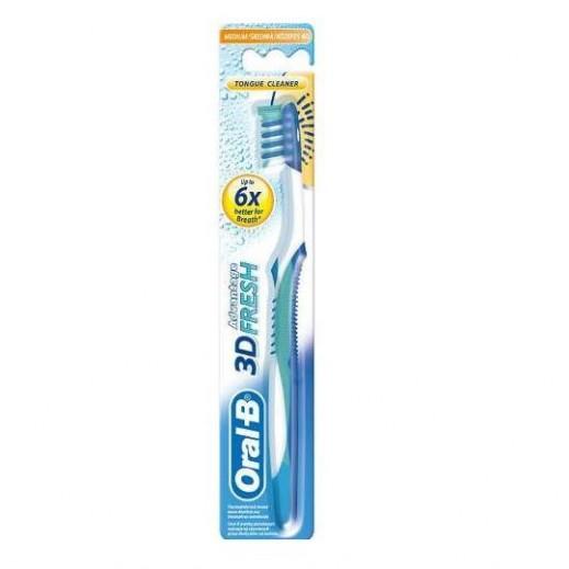 أورال- بي – فرشاة أسنان يدوية بياض 3D – وسط 40