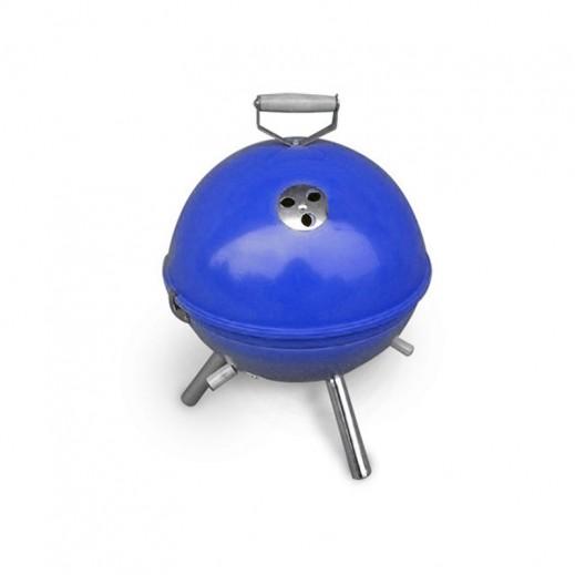 كازا نوفا – شواية فحم دائرية قابلة للحمل 30 × 42 سم - أزرق