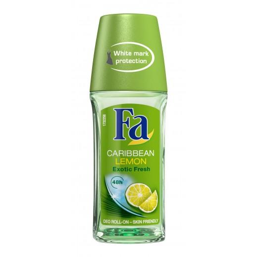 فا – رول مزيل لرائحة العرق برائحة الليمون الكاريبي 50 مل