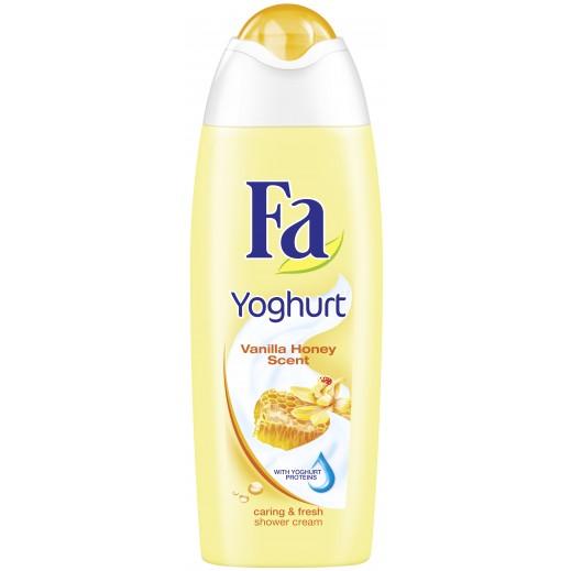 فا – جل استحمام الجسم على هيئة كريم بالزبادي والفانيلا والعسل 250 مل