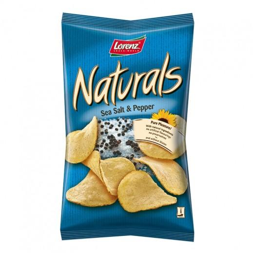 لورينز - رقائق بطاطا طبيعية خالية من الغلوتين بنكهة الملح البحري والفلفل 100 جم