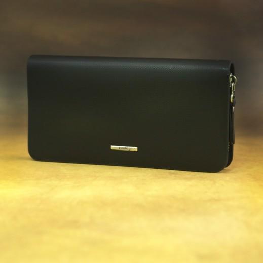 كابوتشي – محفظة بوك جلد للسيدات - أسود