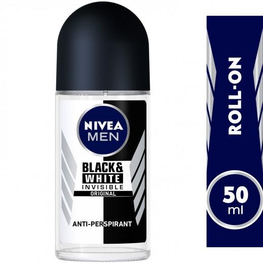 """نيڤيا – مزيل عرق """" إنڤيزيبل"""" رول أون للملابس السوداء والبيضاء  للرجال  50 مل"""